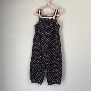 Gymboree 18-24M Corduroy Brown with Pink Hearts